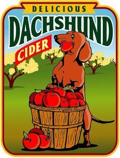 Delicious Dachshund Cider