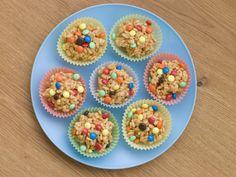 Usa malvaviscos y cereales para hacer un delicioso postre