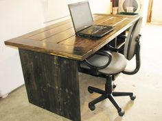 Computer Desk Office Desk Rustic