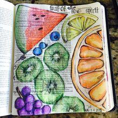 Day14 Fruit of the Spirit #illustratedaugust #biblejournaling