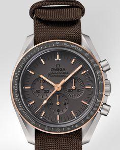OMEGA Watches: Speedmaster Moonwatch Anniversary Limited Series - Titanium - Sedna Gold on NATO strap - 311.62.42.30.06.001