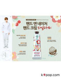 K2POP - EXO-M LUHAN HAND & NATURE WILD CHERRY HAND CREAM (2PCS) + LUHAN STANDEE (1PC) Exo Merch, Nature Republic, Hand Cream, Luhan, Cherry, Cosmetics, Beauty Products, Cherries, Drugstore Makeup