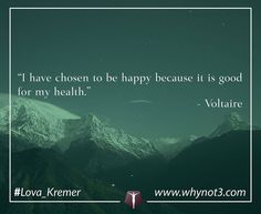 """@Regrann from @lova_kremer - """"I have chosen to be happy because it is good for my health.""""  Voltaire #photooftheday #lifeofanentrepreneur #liveyourlifebefree #comebackstronger #entrepreneurs #Dailykickstart #speaking #motivation"""