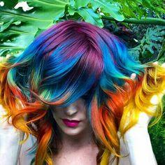 Gypsy Chic, Gypsy Style, Bohemian Style, Boho Chic, Boho Life, Gypsy Life, Boho Inspiration, Collor, Rainbow Hair