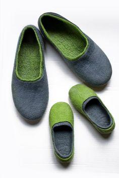 Juego padre hijo zapatillas 2 pares naturales por BureBureSlippers