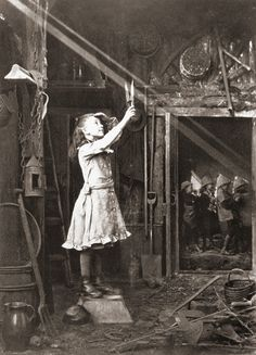 Cutting a sunbeam, 1886  Photographer: Adam Diston, Leven / Scotland
