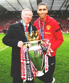 Smalling with Sir Alex and the 20th.