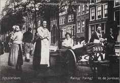 Palingverkoopster in de Jordaan - 1905