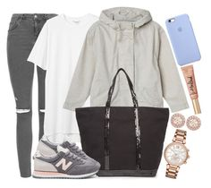 """""""New Balence, Monki and TOPSHOP"""" by camrzkn ❤ liked on Polyvore featuring Topshop, Monki, Vanessa Bruno, New Balance, Michael Kors and Givenchy"""