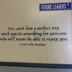 I loved the names of the hallways at Marine View Middle School in CA. There were inspirational quotes on the walls. It reminded me of the KIPP and YES Prep schools. Little things like this can make an impact.