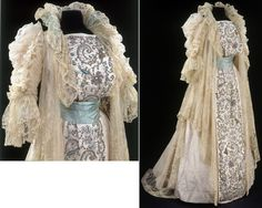 Limerick Lace and India Silk Tea Gown, ca. 1900. http://collections.vam.ac.uk/item/O129211/tea-gown-house-of-rouff/