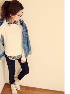 yamaさんのデニムジャケット「LEVI'S VINTAGE CLOTHING 」を使ったコーディネート