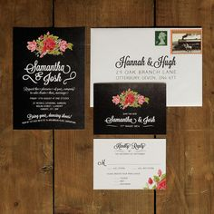 Wedding invitation suite printed on thick 320gsm 'feel good' textured card. Choose from matching Save the Dates, RSVP Cards, Place Name Tags, Orders of Service,Thank You Cards and much more....