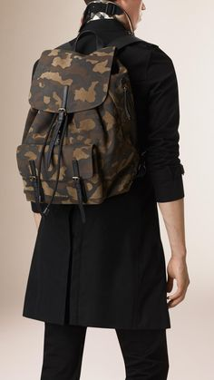 ae558aff65c Burberry   Camouflage-print suede backpack. Burberry Backpack, Men s  Backpack, Camouflage Backpack