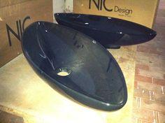 NIC Design Nina Bathroom Sinks, 80cm wide X 35cm deep, for surface mounting