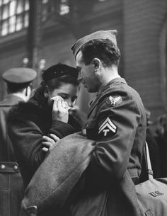 NYC. GOODBYE AT PENN STATION, 1943 by Alfred Eisenstaedt