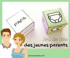 Un petit jeu rigolo à offrir à tous les jeunes parents de votre entourage. :-) Papa ou maman, qui va changer la couche et donner le biberon ?