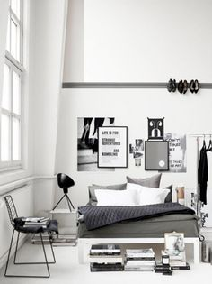 Clean clear bedroom studio