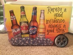Fraternity cooler, painted coolers, beer cooler