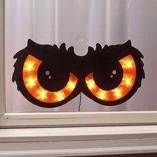 lighted spooky owl eyes