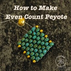 Seed bead jewelry tutorials - Peyote Stitch Part 1 Learn Even Count, Odd Count and Tube in One Earring Design – Seed bead jewelry tutorials Seed Bead Jewelry Tutorials, Seed Bead Bracelets Diy, Beading Tutorials, Making Bracelets, Jewelry Making, Jewelry Bracelets, Wire Jewelry, Jewelry Ideas, Peyote Bracelet