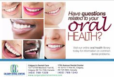 We're here to help you improve and maintain your oral health. Call us today at 403-768-1339 or 403-768-1343 #DentistCalgary #BeautifulSmiles