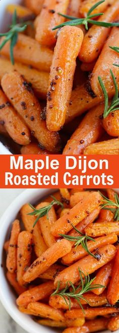 Maple Dijon Roasted Carrots – yummy roasted carrots recipe with maple syrup and dijon mustard. Easy peasy and takes only 10 mins active time | rasamalaysia.com