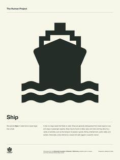 Portfolio / The Human Project Poster (Ship) — Designspiration