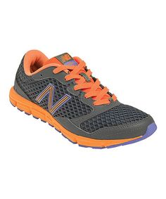 Take a look at this Gray & Orange 630v2 Running Shoe - Women by New Balance on #zulily today!