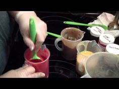 Making & Cutting Cherry Almond Soap for BeScented - YouTube