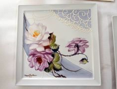 Rose Plaque - looks like Ramsey-Snow style roses with wonderful texturing