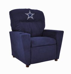Imperial is proud to intorduce its premium line of kids recliners now the whole family can join in and watch the game in their favorite team recliner very contemporary design featuring authentic team color microfiber and a cup holder Embroidered Patc.