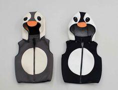 kids penguin Hooded zip up vest/ HOODED vest / by hellodearkids, $40.00