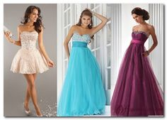 девушки в вечерних платьях