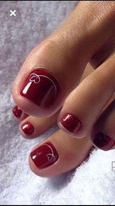 Simple Toe Nails, Pretty Toe Nails, Cute Toe Nails, Summer Toe Nails, Fancy Nails, Toe Nail Art, My Nails, Pretty Toes, Toe Nail Polish