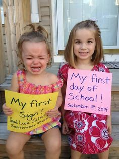 Not happy with Big Sis's first day. Lol.