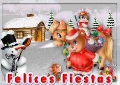El Rincon de mis Imagenes: Felices Fiestas-Muñeco de Nieve