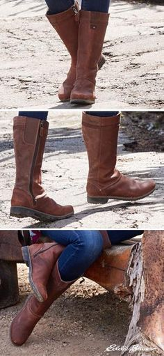 """A tall boot for all seasons. The Trace Boot features soft, waterproof, full-grain leather making this classic boot a cross-seasonal favorite. Elastic goring at the calf allows for 3/4"""" of adjustment for the best fit. Full side zip for easy on/off."""