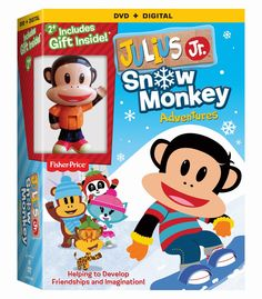Julius Jr.: Snow Monkey Adventures DVD Gift Set Giveaway on Sugar Pop Ribbons
