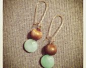 Vintage Golden Sphere Earrings