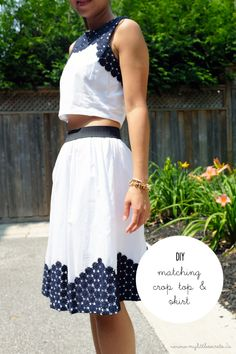 DIY :: Matching Cropped Top and Skirt {with Joe Fresh} - My Little Secrets | DIY and Lifestyle Blog