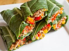 rawyouth:  Raw Taco Gorilla Wraps Makes: 5 to 6 wraps• 2 cups walnuts • 1 tbsp. ground cumin• 1 ½ tsp. chili powder• 1 ½ tsp. ground coriander• Pinch of cayenne pepper• 2 tbsp. low-sodium tamari• 6 large collard green leaves, stems removed and 2 in. trimmed from bottom of leaf• Salsa