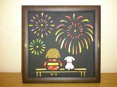壁飾り 花火「切絵」 2x Fireworks, The Creator, Paper Crafts, Japanese, Seasons, Frame, Home Decor, Picture Frame, Decoration Home