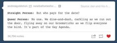 Answer their inquiries to the best of your ability. | 14 Times Tumblr Didn't Have Time For Homophobic Comments