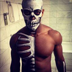 Half Skeleton Body Paint by foxdmca