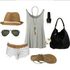 Beach wear - love gray and white