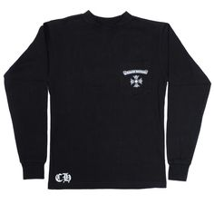 Chrome Hearts Cheap Logo Print Long Sleeve T-Shirt Black - $149.00 : 60% Discount Chrome Hearts and Chrome Hearts On Sale,100% authentic quality!