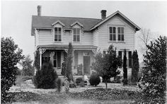 This is the Baker home in Santa Fe Springs, California. They had a  winery also on the lot. 1890