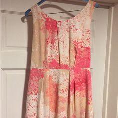 Ann Taylor loft flower dress So cute! Worn once. LOFT Dresses Mini