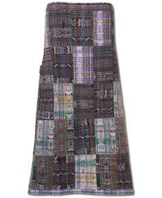 SoulFlower-NEW! Mica Patchwork Skirt #hand #woven #fairtrade